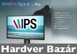 ÚJSZERŰ, FUJITSU B24-8 TS Pro 24 inch 16:9 black PLS-IPS HDMI DVI USB Full HD LED Monitor eladó
