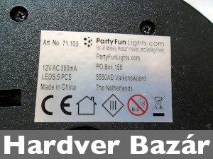 Party diszkólámpa 12V eladó